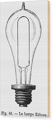 Edison Lamp, 19th Century Wood Print by Granger