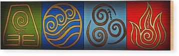 4 Elements In Cylantyca Wood Print