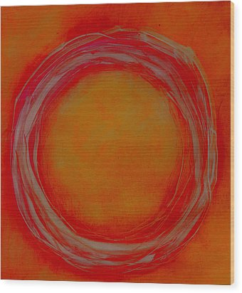 Wood Print featuring the painting Enso by Katie Black