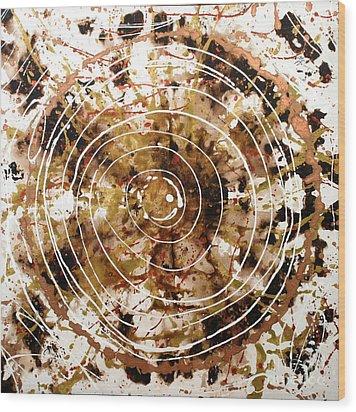 Eternal Circle Wood Print by Baljit Chadha
