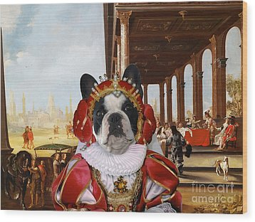French Bulldog Art Canvas Print Wood Print