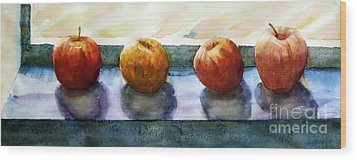 4 Friends Wood Print by Marisa Gabetta