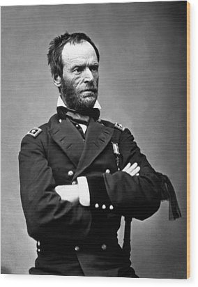 General William Tecumseh Sherman Wood Print by War Is Hell Store