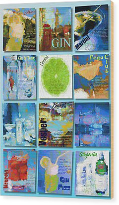 Gin Wood Print