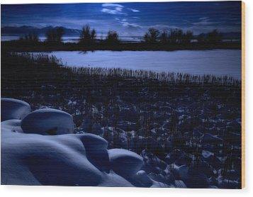 Great Salt Lake Utah Wood Print by Utah Images