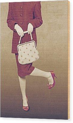 Handbag Wood Print by Joana Kruse