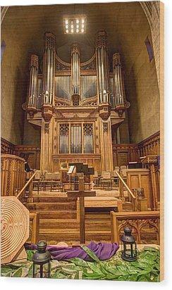 Hennepin Avenue Methodist Church Wood Print by Amanda Stadther