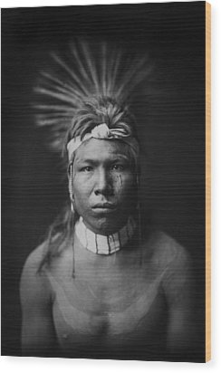 Indian Of North America Circa 1905 Wood Print by Aged Pixel