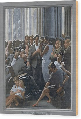 4. Jesus Preaches In The Temple / From The Passion Of Christ - A Gay Vision Wood Print by Douglas Blanchard