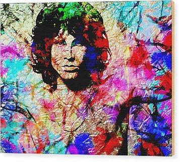 Jim Morrison Wood Print by Bogdan Floridana Oana