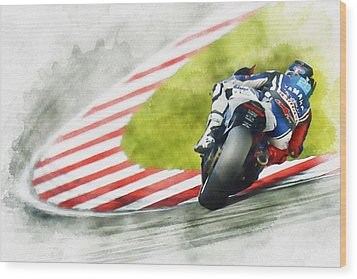 Jorge Lorenzo - Team Yamaha Racing Wood Print