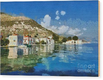 Kastellorizo Island Wood Print by George Atsametakis