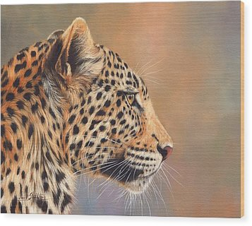 Leopard Wood Print by David Stribbling