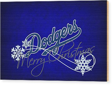 Los Angeles Dodgers Wood Print by Joe Hamilton