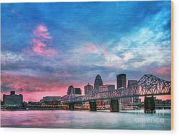 Louisville Kentucky Wood Print by Darren Fisher
