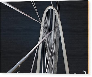 Wood Print featuring the photograph Margaret Hunt Hill Bridge by John Babis