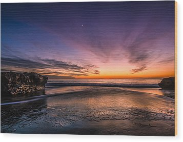 4 Mile Beach Sunset Wood Print