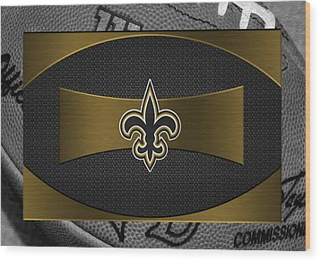 New Orleans Saints Wood Print by Joe Hamilton