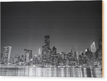 New York City Wood Print by Vivienne Gucwa