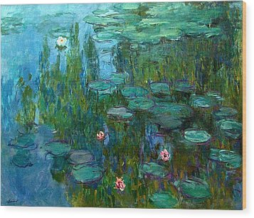 Wood Print featuring the painting Nympheas  by Claude Monet