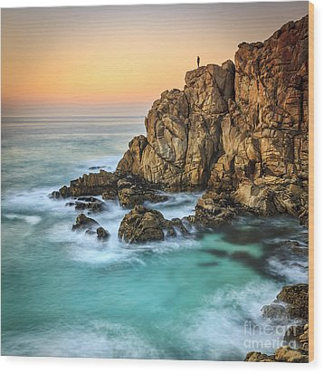 Penencia Point Galicia Spain Wood Print