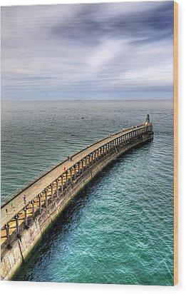Pier Wood Print by Svetlana Sewell