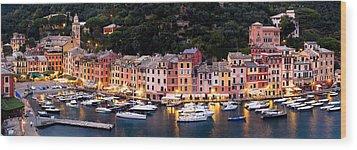 Portofino Italy Wood Print by Carl Amoth