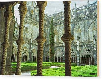 Portugal Church Wood Print by Ted Pollard