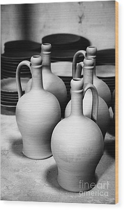 Pottery Wood Print by Gaspar Avila