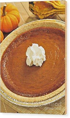 Pumpkin Pie Wood Print by Elena Elisseeva