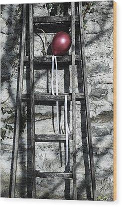 Red Balloon Wood Print by Joana Kruse
