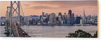 San Francisco Wood Print by Radek Hofman