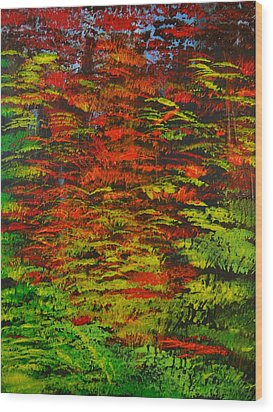 4 Seasons Fall Wood Print