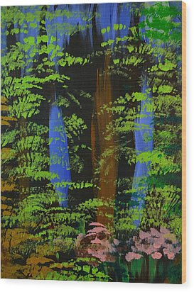 Wood Print featuring the painting 4 Seasons Spring by P Dwain Morris
