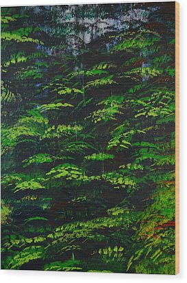 Wood Print featuring the painting 4 Seasons Summer by P Dwain Morris