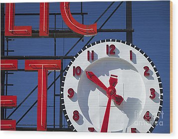 Seattle Market Sign Wood Print by Brian Jannsen