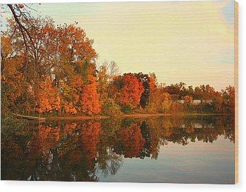 Shady Oak Lake  Wood Print