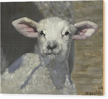 Wood Print featuring the painting Spring Lamb by John Reynolds