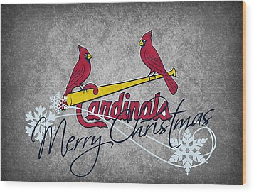 St Louis Cardinals Wood Print by Joe Hamilton