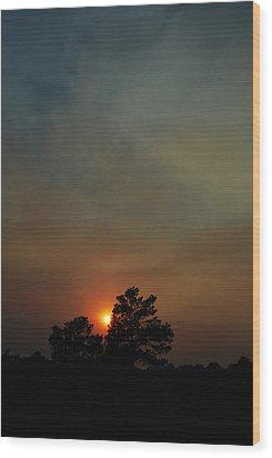 #sunset Wood Print by Becky Furgason