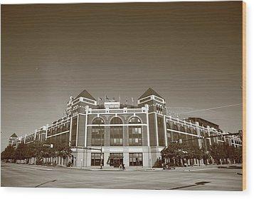 Texas Rangers Ballpark In Arlington Wood Print by Frank Romeo
