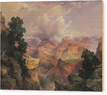 The Grand Canyon Wood Print by Thomas Moran