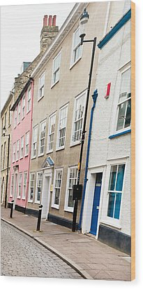 Town Houses Wood Print by Tom Gowanlock