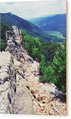 View From Atop Seneca Rocks Wood Print by Thomas R Fletcher
