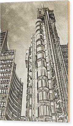 Willis Group And Lloyd's Of London Art Wood Print