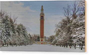 Winter At The Carillon Wood Print by Kelvin Booker