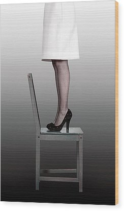 Woman On Chair Wood Print by Joana Kruse