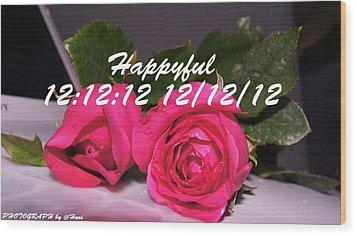 Roses For You  Wood Print by Gornganogphatchara Kalapun