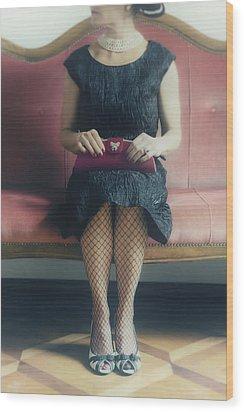 40s Lady Wood Print by Joana Kruse