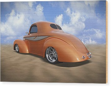 41 Willys Wood Print by Mike McGlothlen